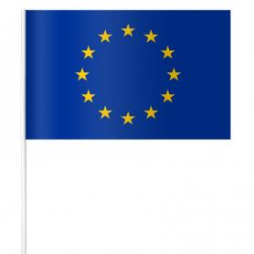 Chorągiewka papierowa Unii Europejskiej 15 x 21 cm