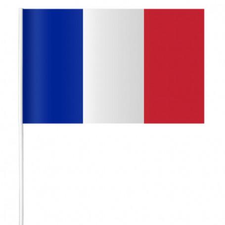 Drapeau en papier de France 15 x 21 cm