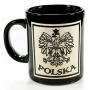 Une tasse de noir, coupé en Pologne