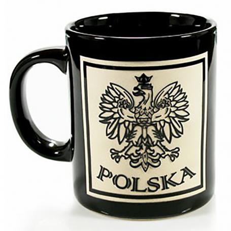 Una taza de negro, cortar Polonia