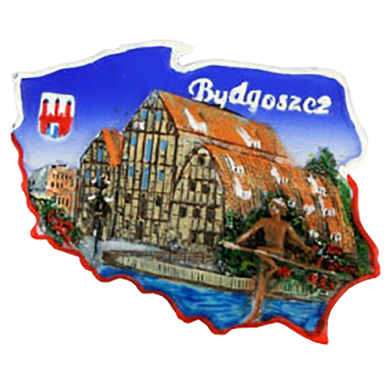 Aimant contour Pologne Bydgoszcz