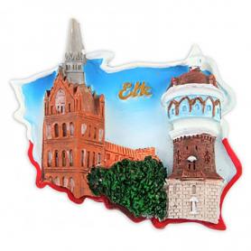 Imán contorno Polonia Ełk