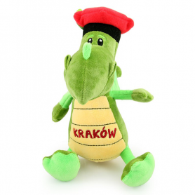 Plush toy mascot Cracow dragon