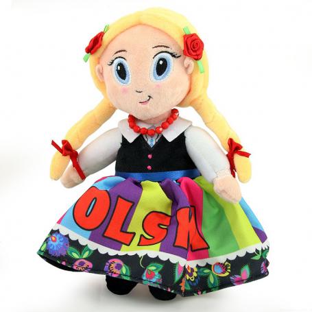 Peluche poupée mascotte folk Pologne