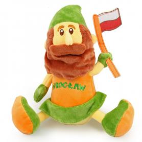 Plush toy mascot Wroclaw dwarf