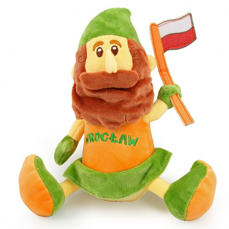 Peluche jouet mascotte Wroclaw nain