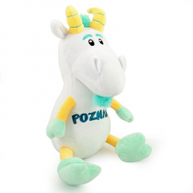 Plush toy mascot Poznan goat