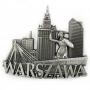 Magnes metalowy Warszawa panorama