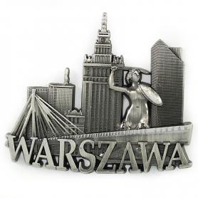 Magnet de métal Panorama de Varsovie