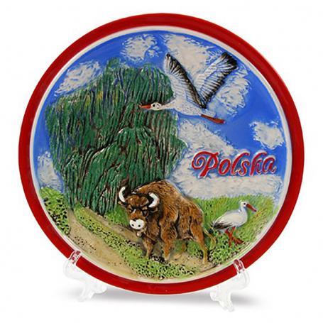 Placa de cerámica pequeno idilio de Polonia