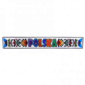 Metal fridge magnet Poland Lowicz Folk