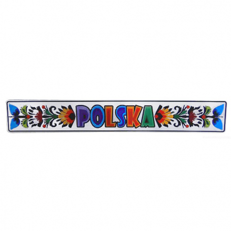 Imán de metal Polonia Folk Łowicki