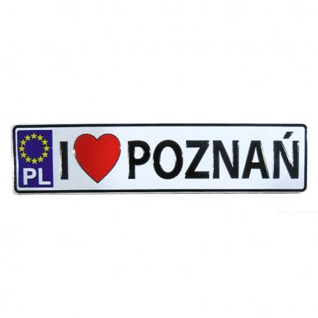 Magnet plaque d'immatriculation en métal Poznań