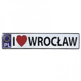 Magnes metalowy tablica rejestracyjna Wrocław