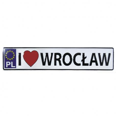 Magnet plaque d'immatriculation en métal Wroclaw