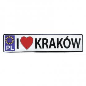 Magnes metalowy tablica rejestracyjna Kraków