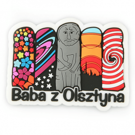 Rubber fridge magnet Women from Olsztyn