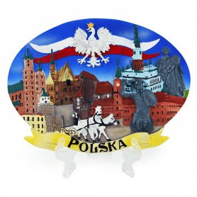 Painted plate Poland