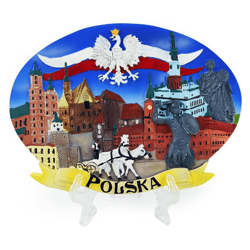 Plaque peinte Pologne