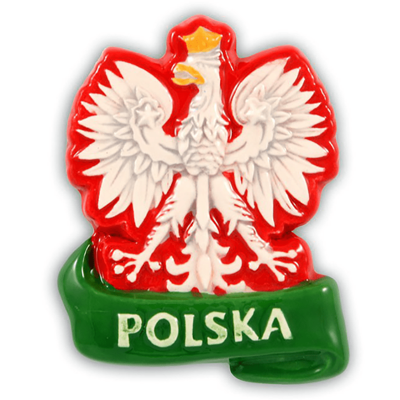 Ceramiczny magnes na lodówkę Polska Orzeł