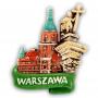 Aimant frigo en céramique Château de Varsovie