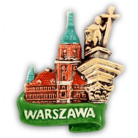 Imán de nevera de cerámica Warsaw Castle