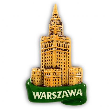 Imán de nevera de cerámica Warsaw PKiN