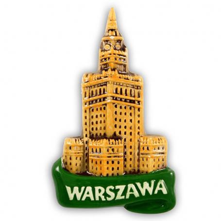 Keraminis šaldytuvo magnetas Varšuva PKiN