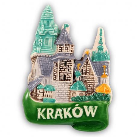 Ceramiczny magnes na lodówkę Kraków Bazylika