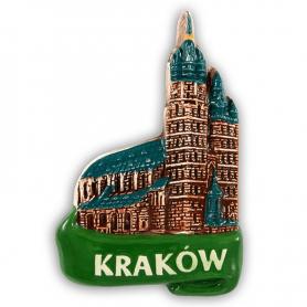 Ceramiczny magnes na lodówkę Kraków Kościół Mariacki