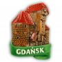 Ceramiczny magnes na lodówkę Gdańsk Żuraw