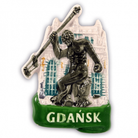 Aimant pour réfrigérateur en céramique Gdańsk Neptun
