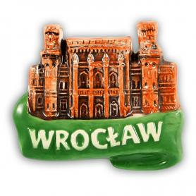 Ceramiczny magnes na lodówkę Wrocław Dworzec