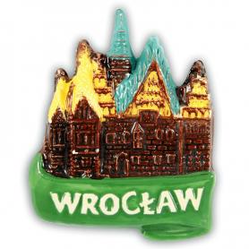 Ceramiczny magnes na lodówkę Wrocław Ratusz