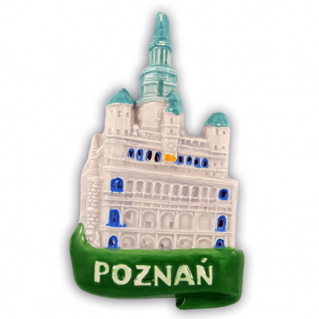 Aimant frigo en céramique Poznań Ratusz