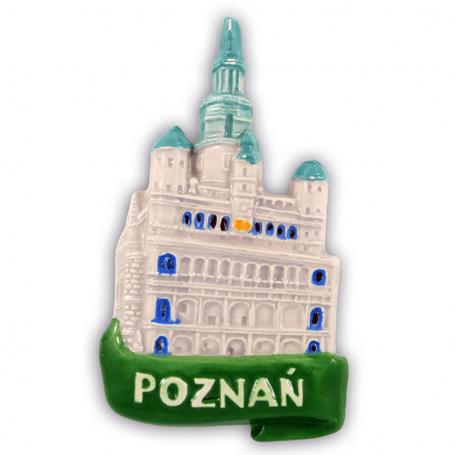 Imán de nevera de cerámica Poznań Ratusz