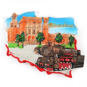 Magnes na lodówkę kontur Wrocław Dworzec