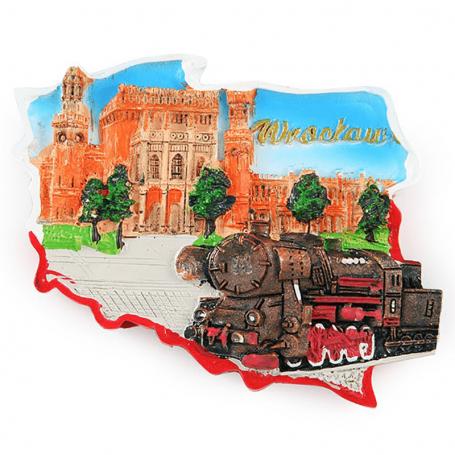Obrys magnetu chladničky Vlaková stanica Wrocław