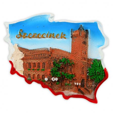 Imán de nevera contorno Szczecinek