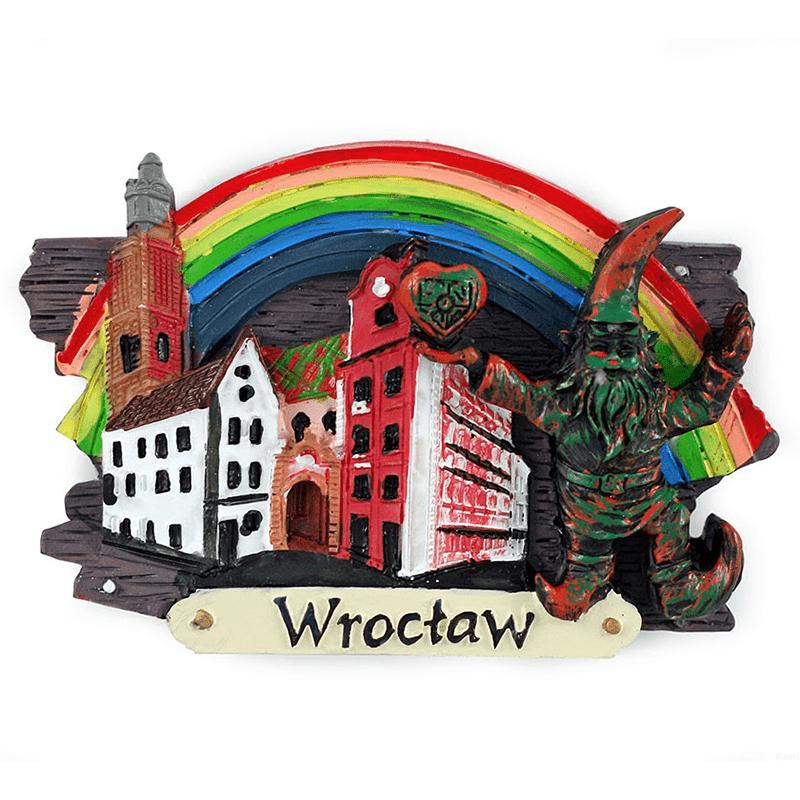Magnes na lodówkę deska Wrocław Jaś i Małgosia