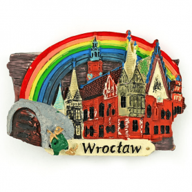 Magnes na lodówkę deska Wrocław Ratusz