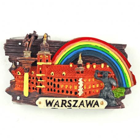 Panneau d'aimant de réfrigérateur Château de Varsovie