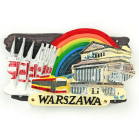 Magnes na lodówkę deska Warszawa teatr
