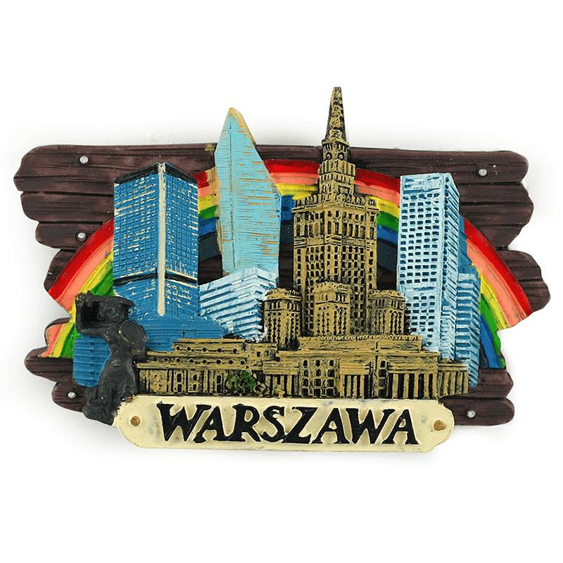 Aimant frigo, planche Varsovie