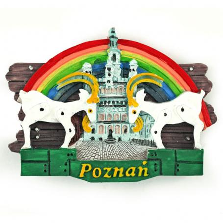 Magnes na lodówkę deska Poznań koziołki