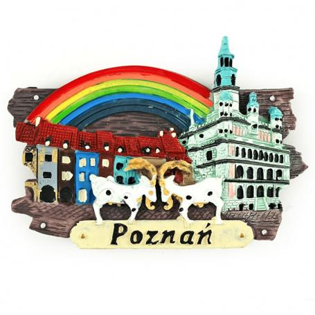 Magnes na lodówkę deska Poznań Kamienice