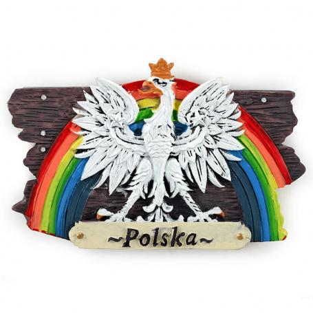 Magnes na lodówkę deska Polska orzeł