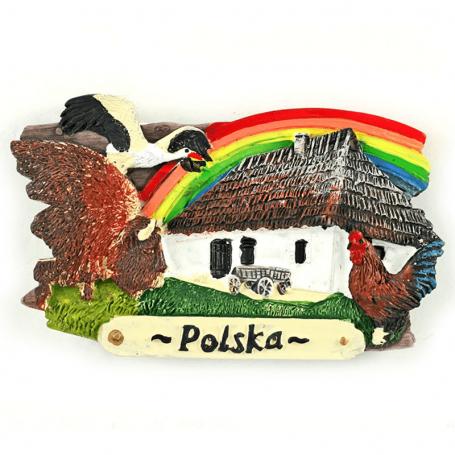 Magnes na lodówkę deska Polska pejzaż