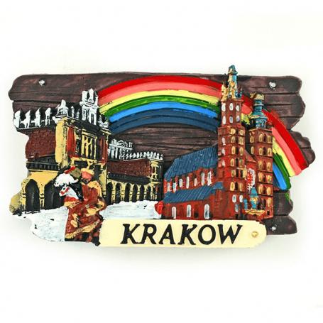 Magnes na lodówkę deska Kraków Rynek