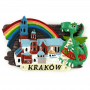 Magnes na lodówkę deska Kraków Smok